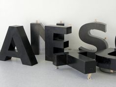 Salvaged Metal Sign Letters