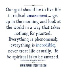 life quotes, inspirational life quotes, appreciate life quotes, our goal should be to live life quotes