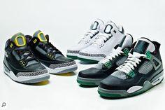 "Air Jordan III & IV ""Oregon Ducks Sneaker Collection"""