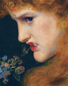 '' Love's Shadow '' 1867 (detail), 1867, by Anthony Frederick Sandys,British, 1829 - 1904