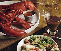 pairing: Vodka-Steamed Lobsters and Tomato-Thyme Butter Dipping Sauce ...