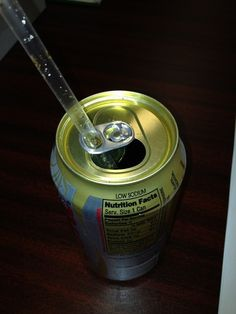Soda tabs double as straw holders.