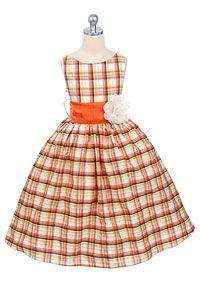 fall flowers, plaid, orange flowers, flower girl dresses, dress styles, flowergirl, flower girls, fall dresses, little girl dresses