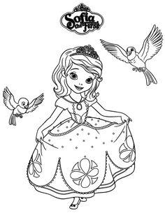 Dibujo para colorear de la Princesa Sofía (nº 5)