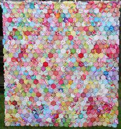 Beautiful hexagon quilt