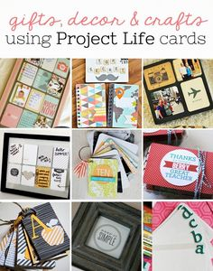 Use up some of your #ProjectLife stash to make these fun and unique gifts, home decor, and crafts! www.sisterssuitcaseblog.com