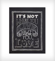 Where You Love art print