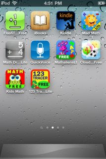 Ipod touch for math