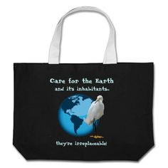 Care for the Earth! Environmental Giant Tote Bag