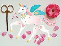 Articulated Paper Unicorn Instant DIY Download by crazyfoxpaper