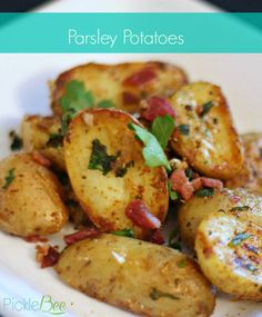 Crispy Parsley Potatoes with Paprika, and Bacon