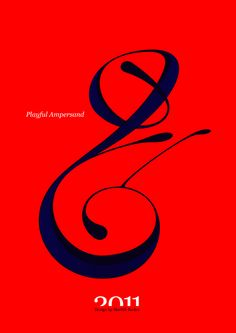 #Playful #Ampersand. #Moshik Nadav #Typography.        #ampersands #experimental #typography #typo #font #fonts #type #fashion #sleek #deep #hues #graphic #art #red #rouge #navy