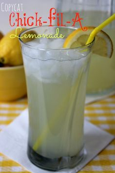 Copycat Chick fil A Lemonade Recipe  - so refreshing!