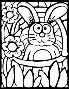 FREE! Grab this cute stained-glass style coloring activity to celebrate Spring and Easter. They look amazing when displayed, and the lines are thick to promote success for younger students. Use it as a writing prompt too! Whimsy Workshop Teaching http://whimsyworkshop.blogspot.ca