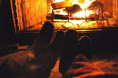 Super Cozy fireside with Slippers
