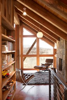 Reed Residence by Robert Hawkins Architects    Eames Chair
