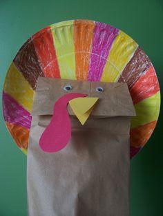 Paper Bag Turkey Puppet: #HappyThanksgiving #Thanksgiving #handprint #keepsake #kids #children #simple #easy #DIY #home #weekend #craft #art #decoration #decor #kindergarten #preschool #prek #toddler #turkey via Because I Said So (and Other Mommyisms):