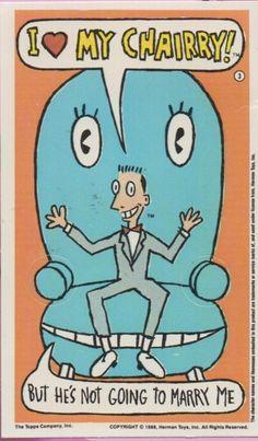 Pee Wee Herman Trading Card.