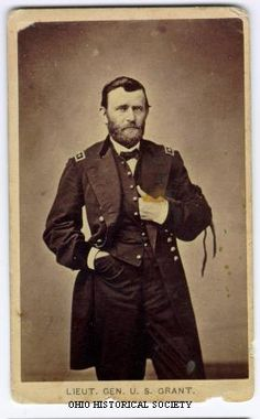 Carte de visite portrait of Lieutenant General Ulysses S. Grant, 1865. Grant was commissioned Lieutenant General by Abraham Lincoln in March 1864. The black armband hanging from his sleeve may be a mourning band for President Abraham Lincoln who was assassinated on April 14, 1865.