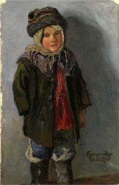 Country Boy - Nikolay Bogdanov-Belsky.  Haunting.