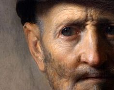 Rembrandt detail, rembrandt, militari costum, paint, artist, man, portrait, eye, van rijn