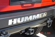 2003 09 Hummer H2 Chrome Rear Bumper Letter inserts, low maintainance