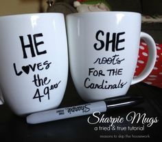 the raven, inspir network, sharpie mugs, mug designs, coffee cups, last minute gifts, gift idea, christma, diy projects
