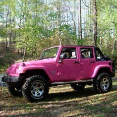 Pink Jeep!