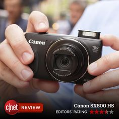 The Canon PowerShot SX600 HS delivers easy automatic shooting options, very good photo and video quality, and a useful zoom range with optical image stabilization in a slim, lightweight package and at a reasonable price.
