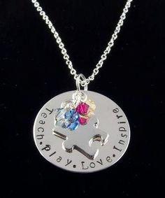 Autism awareness necklace.