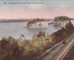 Mississippi River near Cape Girardeau, Mo, 1930.  :: Postcard Collection