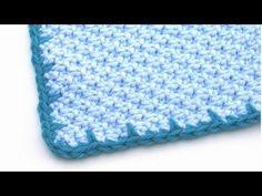 Crochet for Knitters - Spiked Edging - YouTube