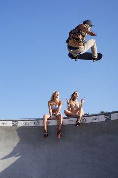 surf skate, photographi inspir, lifestyl, sk8, pools, barbara palvin