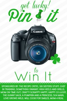 Win a Canon Rebel T3i...Just Pin It To Win It! - Mom 4 Real