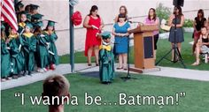 This Adorable Preschooler Told Everyone At His Graduation He Wants To Be Batman