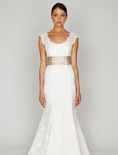 Scoop Mermaid Wedding Dress  with Natural Waist in Lace. Bridal Gown Style Number:32306714