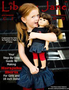 liberty, girl doll, doll clothes patterns, skirt patterns, skirts, doll patterns, vintage sheets, doll match, american girls