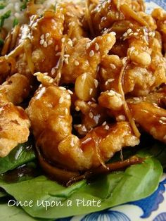 ♥♥ |		SO MAKING THIS, yum! Crispy Garlic-Ginger Chicken, Asian Style via Once Upon a Plate