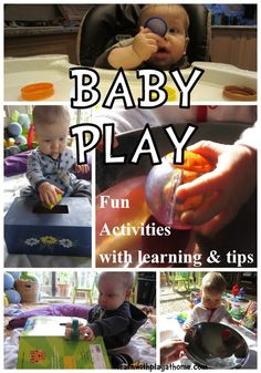 Easy learning activities for a 6 month-old you can do with every day household items! Check out the blog -- lots of cool stuff!