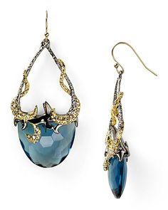 Alexis Bittar Siyabonia Midnight Gunmetal Blue Drop Earrings | Bloomingdale's