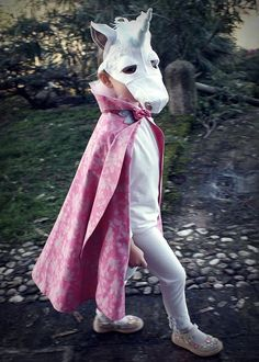 Unicorn mask and cape: Downloadable PDF pattern