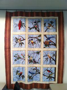 Applique bird quilt