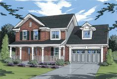 Home Plans HOMEPW24722 - 1,650 Square Feet, 4 Bedroom 2 Bathroom Country Home with 2 Garage Bays