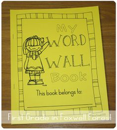Have your students use a Word Wall Book to record their sight words to use in their writing!