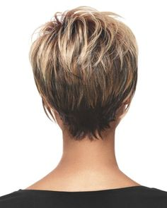 Stacked Bob Hairstyles Back View | LuxHair Stacked Bob Wig Sherri Shepard NOW Heat Friendly LuxHair Short ...