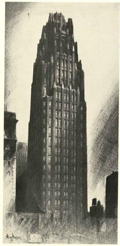 Hugh Ferriss: Radiator Building, New York