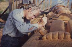 Bill Reid carving Skidegate