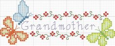 Grandmother cross stitch