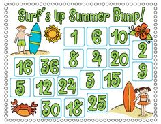 FREE Here's a summer themed Bump game to practice multiplication.