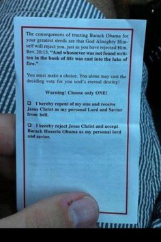 These were found tucked in Bibles in swing states. NOW CAN WE PLEASE START TAXING CHURCHES